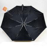 "21 "" X8K 4折る防風の日曜日の保護ロゴの印刷(YS4F0001)を用いる1本の層のゴルフ傘"