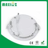 China Fornecedor rebaixada redonda ultra fino de luz do painel de LED de 3 W