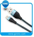 USB 케이블을 비용을 부과하는 이동 전화 사용