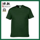 T-shirt personnalisé unisexe de coton de taille de couleur solide