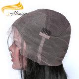 Cheveux raides de soie 100% Remy Cheveux humains Full Lace Wig