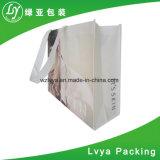 Le tissu non tissé promotionnel estampé pp de blanc portent le constructeur de sacs