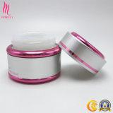 Colore rosa e vaso rotondo della porcellana colorato argento