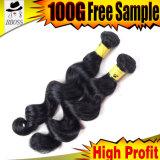 человеческие волосы девственницы черноты двигателя 8A бразильские