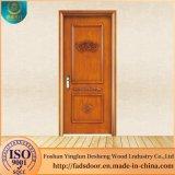 Puertas de entrada de madera de Desheng Precio polaco