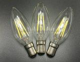4W 6W 8W LEDの軽いB22バイオネットの帽子の暖かく白いフィラメントのDimmable LEDの地球