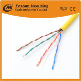 En el exterior el cable Ethernet Cat5e Cable LAN Cable de red de cobre sólido con