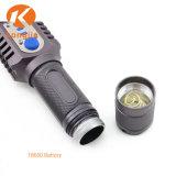 최고 Xm-L T6 물 저항하는 소형 토치 LED 광원 힘 플래쉬 등