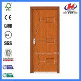 손잡이 플라스틱 문 디자인 단단한 나무로 되는 PVC 문