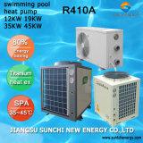 全天候用たくわえ25~245cubeのメートル水32deg c 12kw/19kw/35kw/70kw R410Aサーモスタットのプールのヒートポンプの省エネ