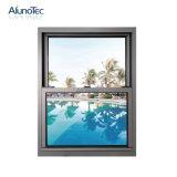 Ventana de marco colgada doble de aluminio