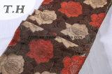 tessuto del sofà del jacquard del Chenille 330GSM con i bei fiori