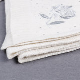 Женщины Knit логоса вышивки шерстей зимы перчатки шали и шлема шарфа акриловой длинние, связанные шарфы греют комплект