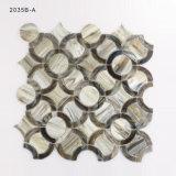 Tuile de mosaïque en verre grise d'effet en bois pour la décoration de mur de salle de bains