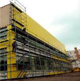 el panel compuesto de aluminio del material de construcción de 1220*2440*4*0.5m m
