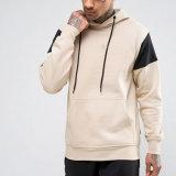 Настраиваемый логотип High-end хлопок подкладка из флиса пустым Pullover мужчин худи с 2 рукава цвет