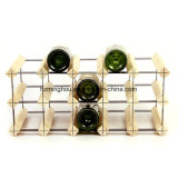 Деревянный стеллаж для выставки товаров хранения для вина в погребе