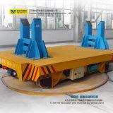 Carrello motorizzato di trasferimento della piattaforma girevole sul trattamento delle rotaie attraversate