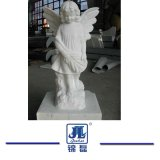 Piccola pietra di marmo delle statue di angelo, scultura di marmo per la decorazione/paesaggio del giardino