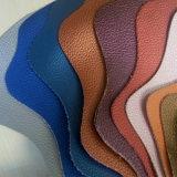 Cuero de la PU del modelo de Lichee de la alta calidad para los bolsos y los zapatos (HSK098)
