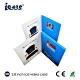 Gebrauch bekanntmachen 2.8 Zoll-Videokarten, LCD-Bildschirm-Hochzeits-Karte