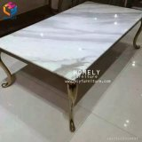 Tableau réglé simple Hly-St05 d'acier inoxydable d'or de Tableau dinant de meubles
