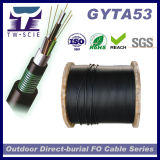 câble optique de fibre de 12/24/36/48/60/96core G652D GYTA53