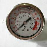 63mmの振動証拠および液体のFillableのパネル圧力メートル