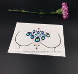 바디 스티커 아크릴 모조 다이아몬드 가슴 스티커 바디는 보석으로 장식한다 마스크 스티커 (E03)를