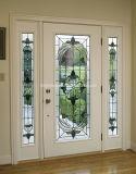 外部の固体木のドアの基本記入のドア