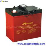 Перезаряжаемые батарея 12V55ah геля хранения силы для солнечного