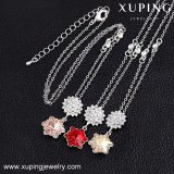 Crystals From Swarovski를 가진 43244 Xuping Fashion Jewelry Newest Flower Design White Gold Necklace Made