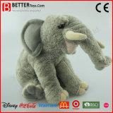 高品質の現実的なプラシ天のぬいぐるみ象の柔らかいおもちゃ