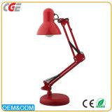 Braço longo moderno de venda quente preto/branco/amarelo/tabela de dobramento vermelha das luzes das lâmpadas de mesa que ilumina lâmpadas de tabela a pilhas do diodo emissor de luz