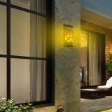 Iluminación impermeable al aire libre solar de la pared de la llama del baile del camino de la luz de la cerca de 66 LED