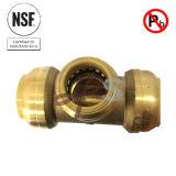 UpcのNSFの自由な鉛真鍮押しの適当なMnptのティーのカップリング