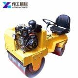 La maquinaria de construcción vibrando mini rodillo compactador de carretera