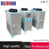 охлаженный воздухом промышленный охладитель воды 1.5rt для машины бутылки дуя