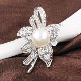 Gran Pearl+Estrás Broche Vintage pasadores para vestido de novia ramos de broches de la Mujer (BR-13)
