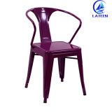 판매를 위한 의자를 식사하는 많은 색깔 작풍 옆 의자 포도 수확 금속