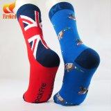 Kundenspezifische Baumwollglückliche bunte Mens-Kleid-Socken