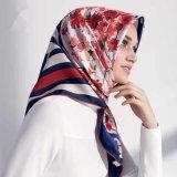2017人の新しい方法イスラム教のイスラム教の女性の絹のターバンのスカーフHijab