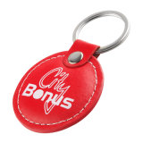 Chinesisches rotes Leder RFID Keyfob für Weihnachtsgeschenk