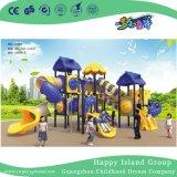 Открытый синий дерево дом оцинкованной стали детская игровая площадка для продажи (HG-10202)