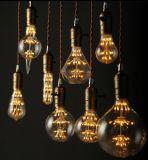 Vintage estrelado de filamentos de fogos de artifício de LED de luz da lâmpada estrelada