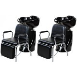 販売のための黒いシャンプーの椅子の後流の単位の椅子の大広間の家具