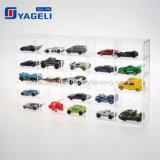 Étalage acrylique de modèle de véhicule de réseau fait sur commande clair de Yageli
