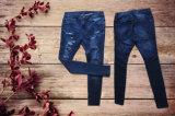 Mazarine et lavage cassé avec des jeans de poche de dos de forme de v pour Madame (HDLJ0001-17)