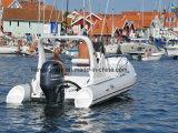 Boot van het Dek van pvc van de Motoren van de Boot van Liya 19FT de Buitenboord