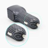 고품질 탄소 흑백 사각은 충전기 USB 포트 차 이중으로 한다